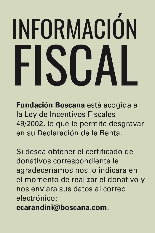 Beneficios Fiscales Fundación Boscana