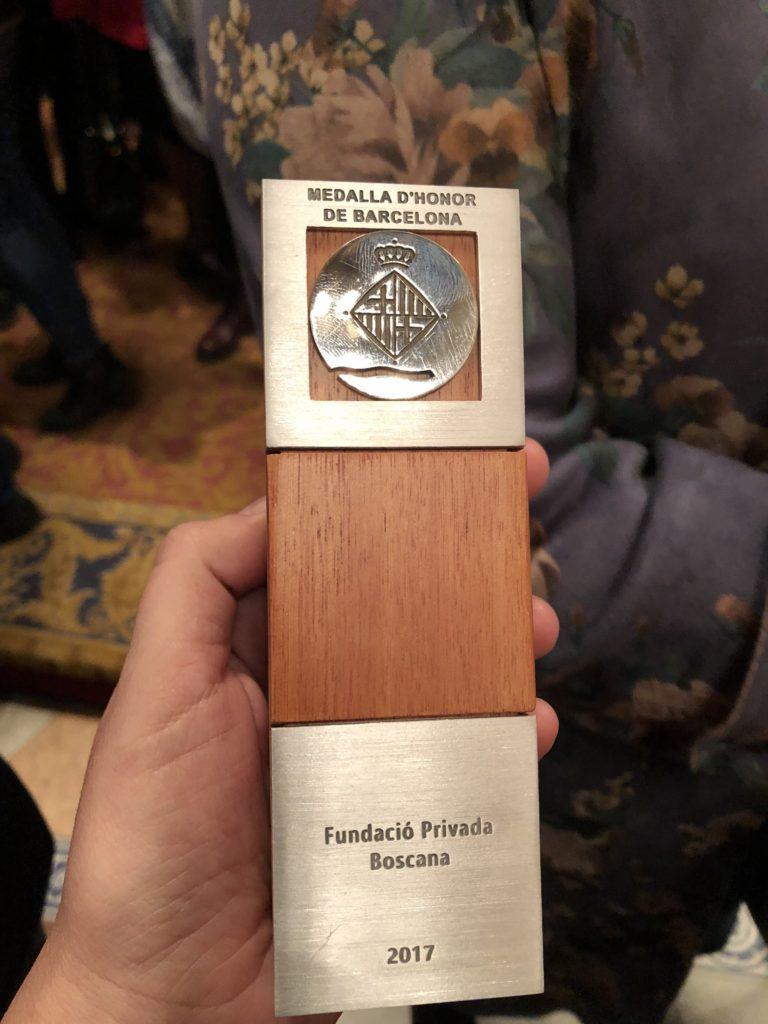 MEDALLA Honor Barcelona Fundacion Boscana