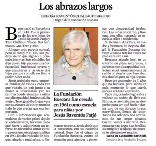 Obituario de Bego en La Vanguardia